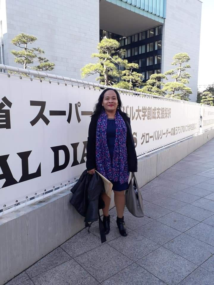 SIBAT Executive Director Tata Catarata at the International Conference for the Comprehensive Framework on Appropriate Technology in Toyo University, Japan in December 2019.