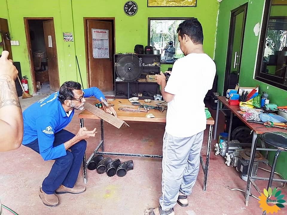 Training preparations at the Mangarita Organic Farm in Capas town, Tarlac in December 2019.