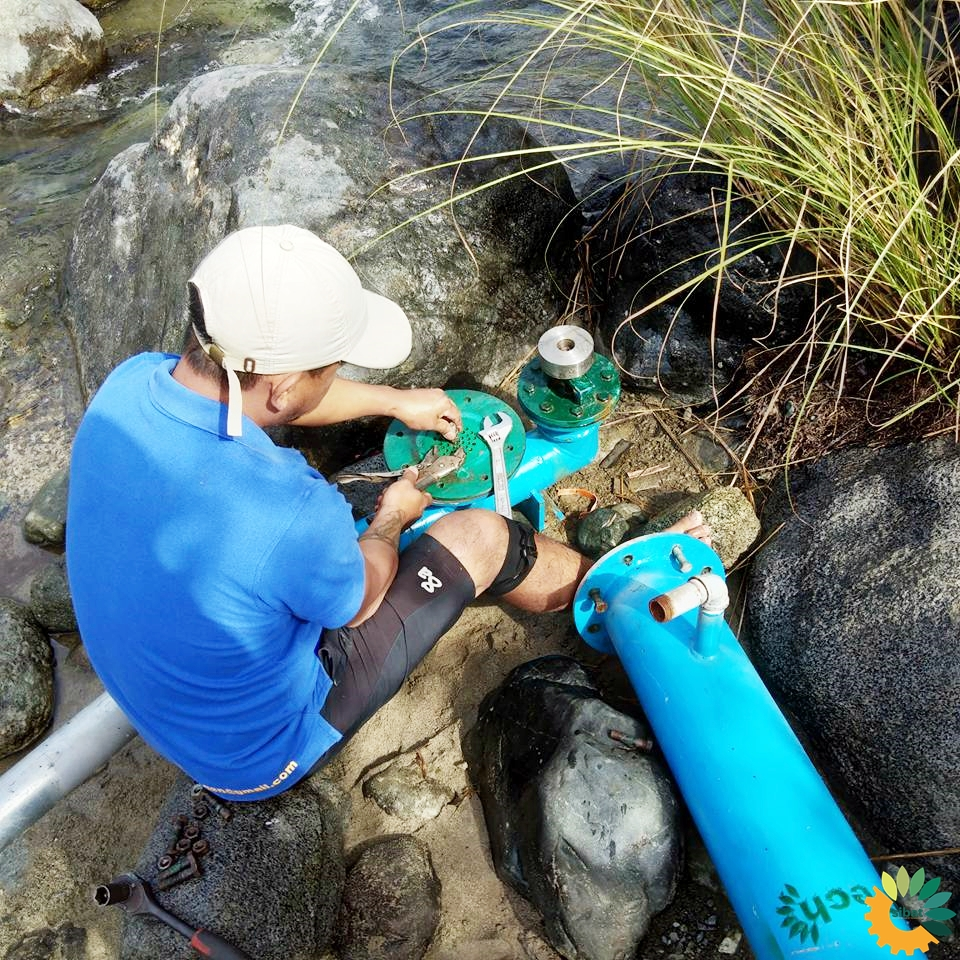 Installation of the Hydraulic Ram Pump in February 2018 for the SIBAT project in Tubo town, Abra.