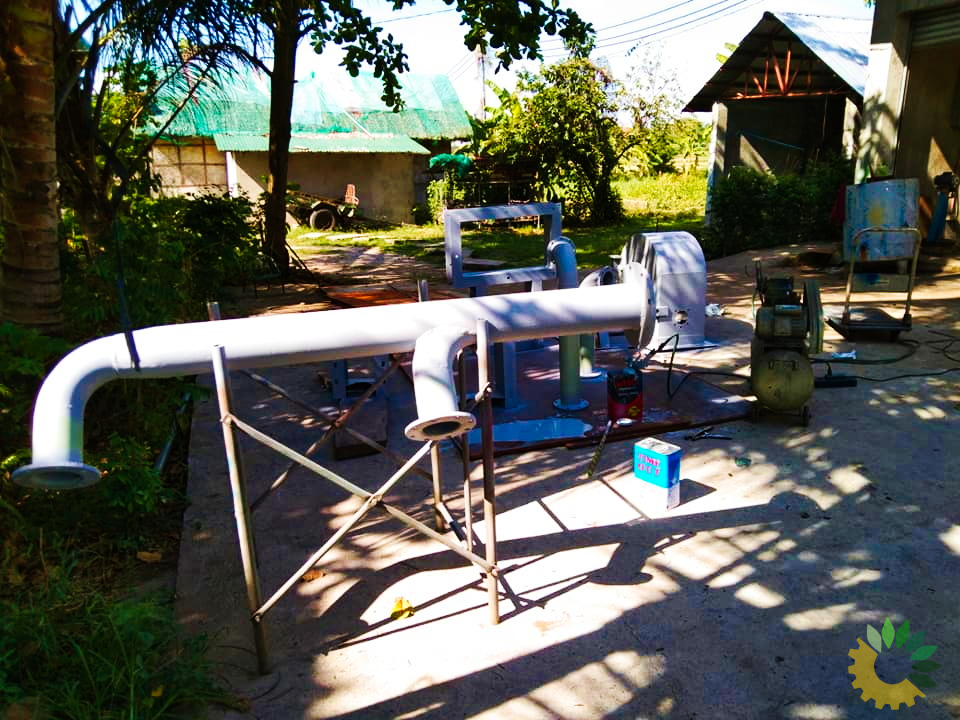 Fabricating metal casing for the Pelton turbine for the Micro-Hydro Power system in Abra