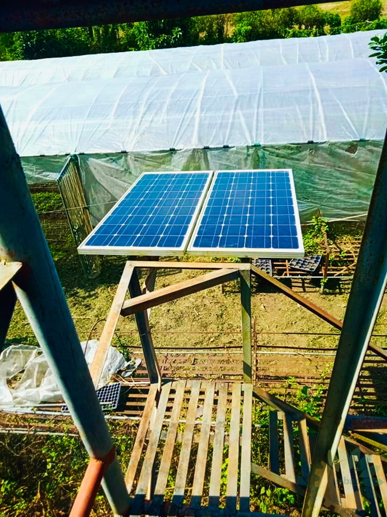 Operation and maintenance of Solar-Powered Drip Irrigation System installed at the Mangarita Organic Farm in Capas, Tarlac in 2013.